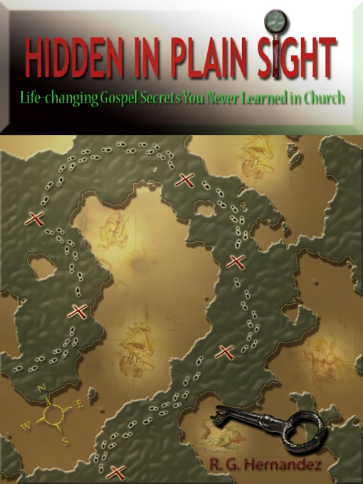 Book cover with map and footprints
